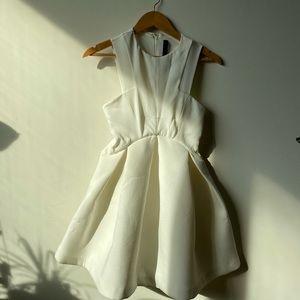 AQ AQ Major Structured Skater Dress - white US 2